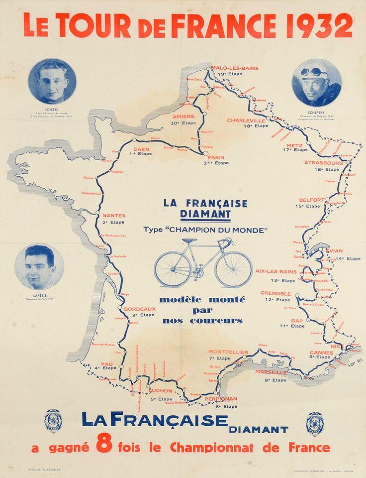 Tour de France 1932 Please follow us @ http://www.pinterest.com/wocycling