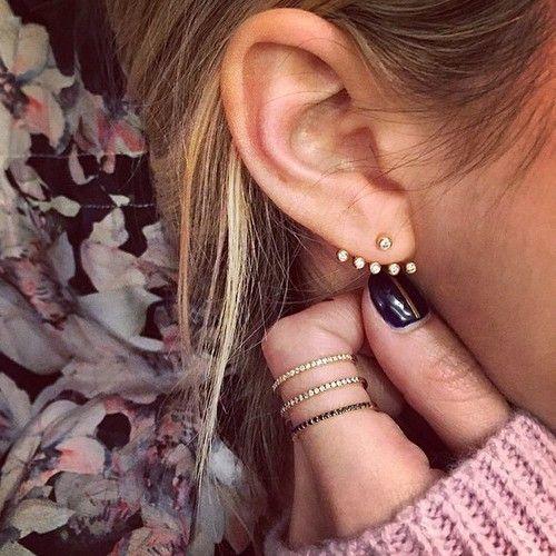 Multi Bezel Diamond Ear Jacket