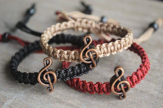 We play in the same band - Macrame  Bracelets / Adjustable Knotted Bracelets / Friendship Bracelets by Macramedamare #italiasmartteam #etsy #christmasgift