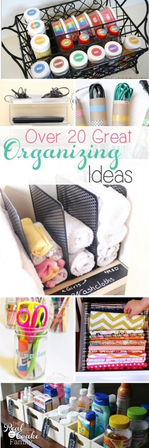 Love all these great ideas to organize my house and my life. Can't wait to try some of these and feel more organized!