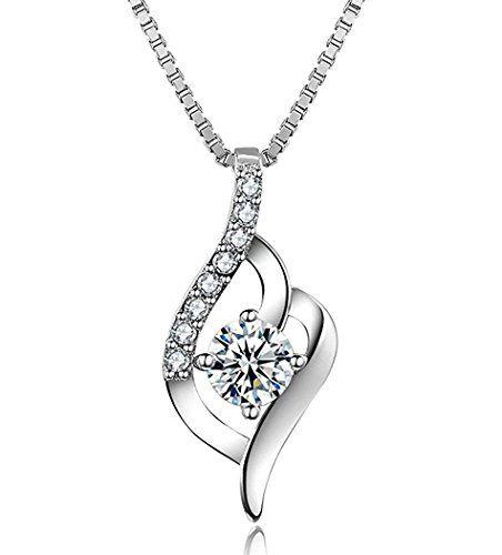 Precioso collar con diamantepara mujer Precioso collar con diamante para mujer. El collar es de plata de ley (925) fabricada en Francia. Tiene circonitas cúbicas transparentes y una cadena de 45 sm. Puedes usar este precioso collar de marca J.Vénus c