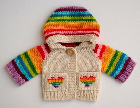 Faye's 12 Color Rainbow Hoodie by Tomboy Knits