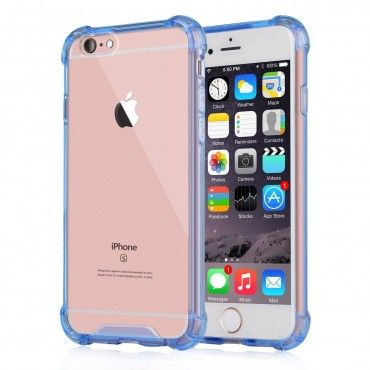 """iPhone 7 / iPhone 8 4.7"""" Hard Plastic Back Plate and Soft TPU Gel Bumper Case - Blue CA$4.99 Out Of Stock #esourceparts #iphone #Hard #Plastic #Back #plate"""