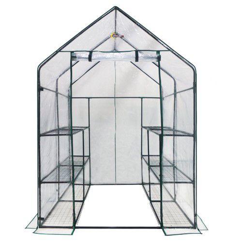 Ogrow Deluxe Walk-In 6-tier 12-shelf Portable Greenhouse | Jet.com