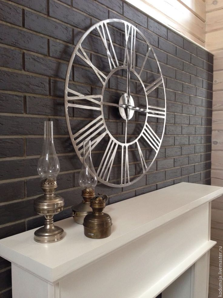 "Wall clock ""Rooma-lihvitud"". 88cm. Metal wall clock. Sanding manually. Wall clock KODUMAJA. Made of metal. Manual polishing. Big clock. Steel with manual grinding."