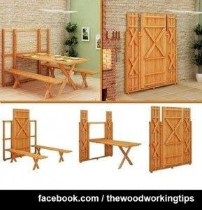 Fold-up picnic table and bench!