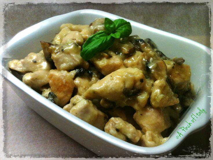 Pollo alla Crema di Funghi - ricetta light