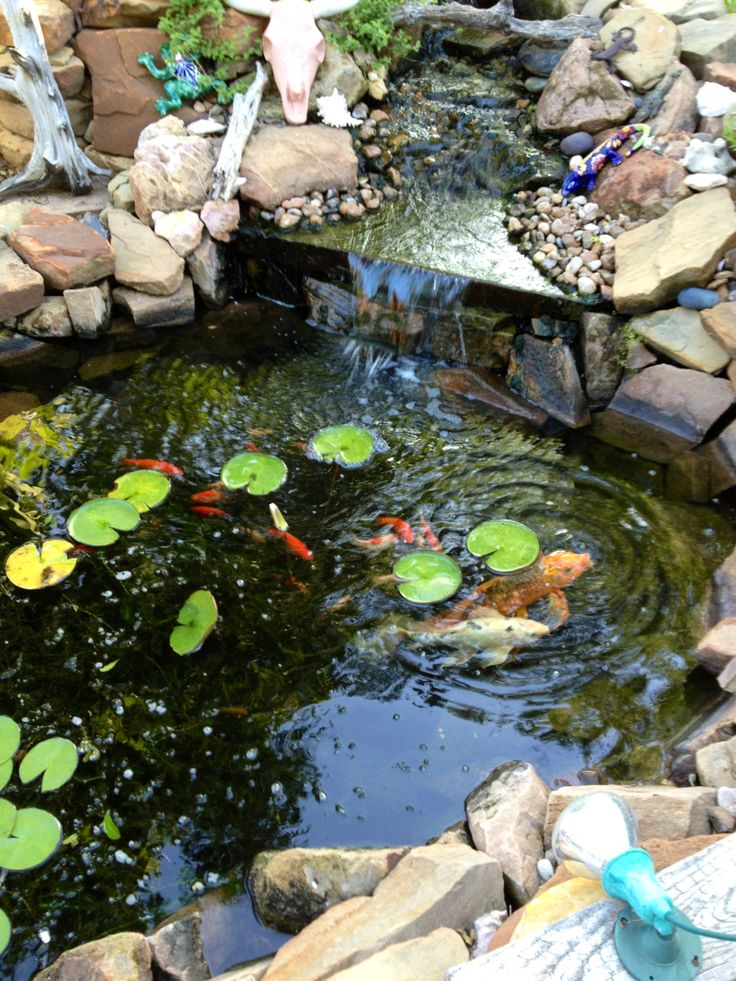 22 best rock waterfall front yard images on pinterest for Koi ponds near me