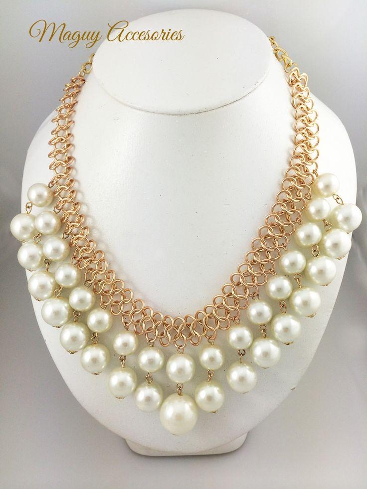Collar Just pearls Precio Pùblico $229 Código 1182 Incluye aretes www.margori.com
