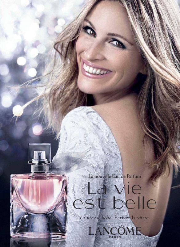 Publicité du parfum La Vie est Belle de Lancome