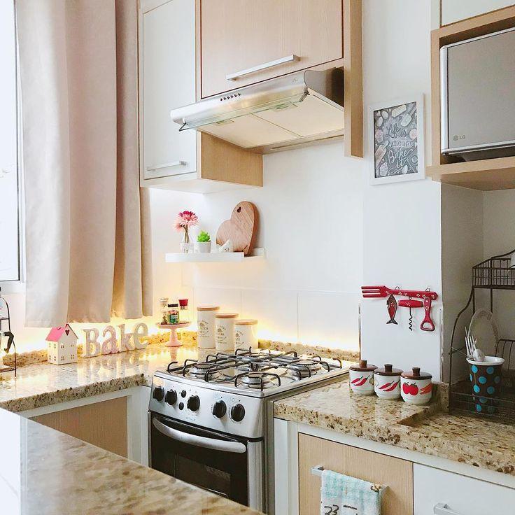 Cozinha arrumada = sensação de paz ☺️ #tamaralaredecor