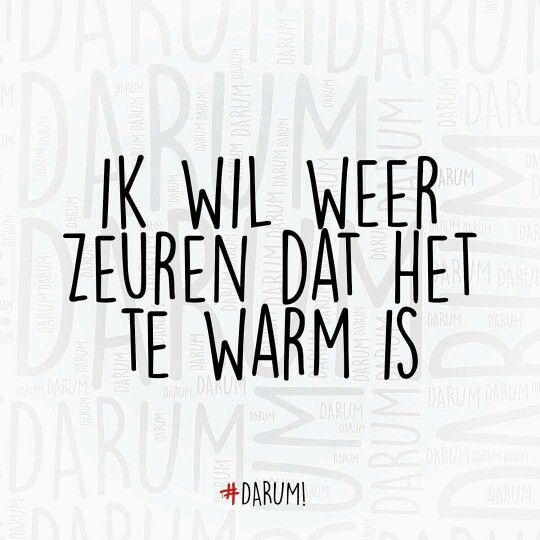 Ik wil weer zeuren dat het te warm is. ;)