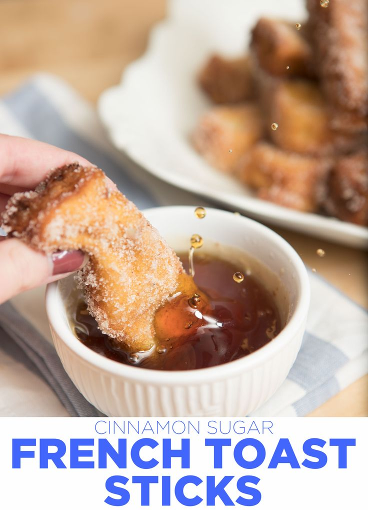 Crispy and crunchy on the outside, soft on the inside, and perfect for dipping, these cinnamon sugar French Toast sticks are perfect for any breakfast special occasion! #OurBestBites #FrenchToast #breakfast