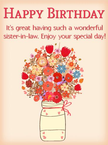 15 best birthday cards for sister in law images on pinterest send free beautiful bouquet happy birthday card for sister in law to loved ones on birthday greeting cards by davia bookmarktalkfo Gallery