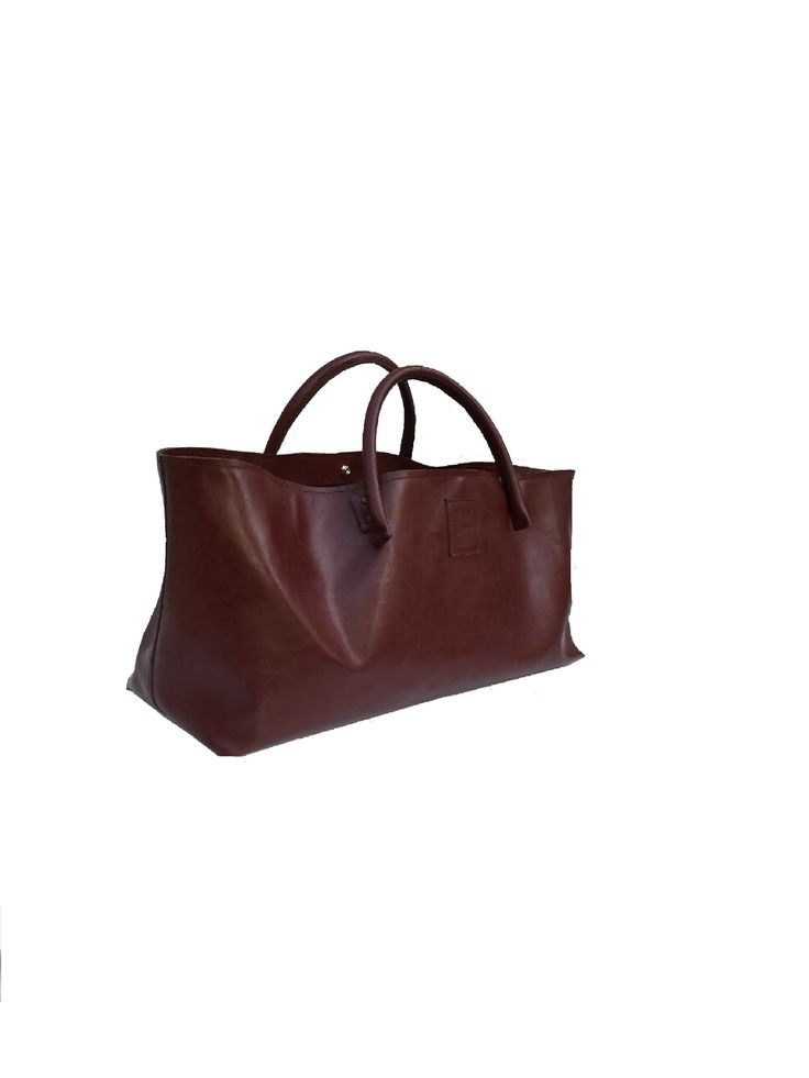 Big leather bag semi-rigid leather carrying case leather shopper bag cool bag for wholesale purchase used look leather handmade