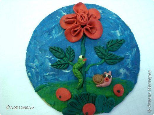 Картина панно рисунок Аппликация из пластилина + обратная Лепка Детские картины из пластилина Пластилин фото 17