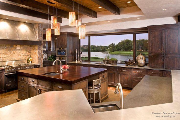 Современный дизайн кухни на даче   Лучшие идеи для интерьера на фото