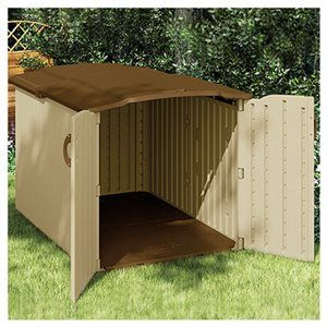 Suncast Glidetop Storage Shed, Resin, X 79 X Ft.: Model Is It Big Enought  For My Riding Mower And Gena