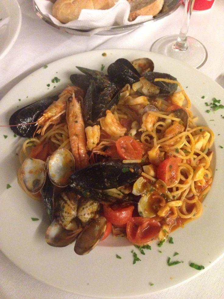 Spaghetti ai frutti di mare @Olimpo, Brescia, Italy