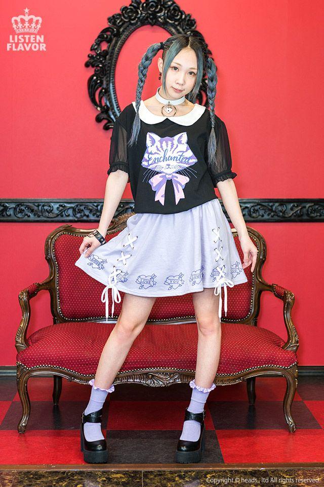 listen-f | Rakuten Global Market: Zipper system individuality group fashion of KERA of love heart race up circular skirt ◆ LISTEN FLAVOR (リッスンフレーバー) Gurley pop punk rock Harajuku origin origin