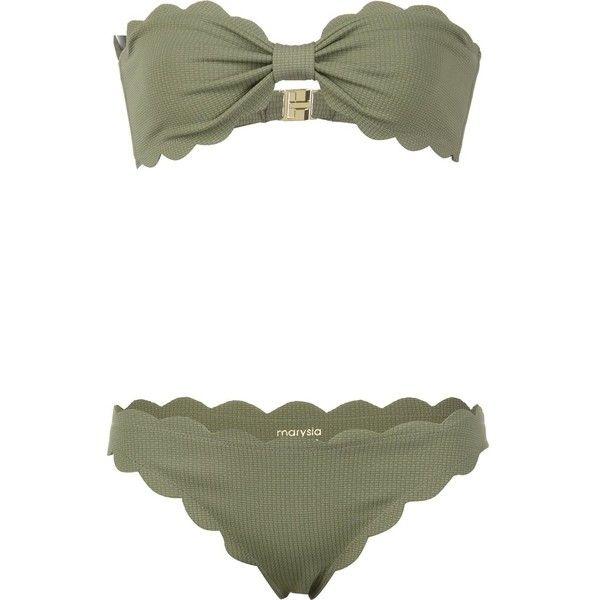 Marysia Antibes Strapless Bikini (385 AUD) ❤ liked on Polyvore featuring swimwear, bikinis, jet, kirna zabete, kzloves, ready, set, bikini beachwear, strapless swimwear and bandeau top bikini