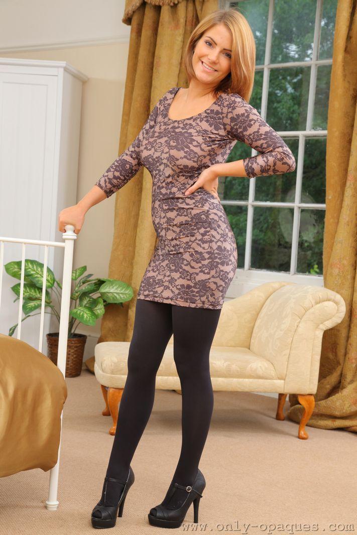 Jessica Kingman | sexy | Opaque tights, Tights, Dresses