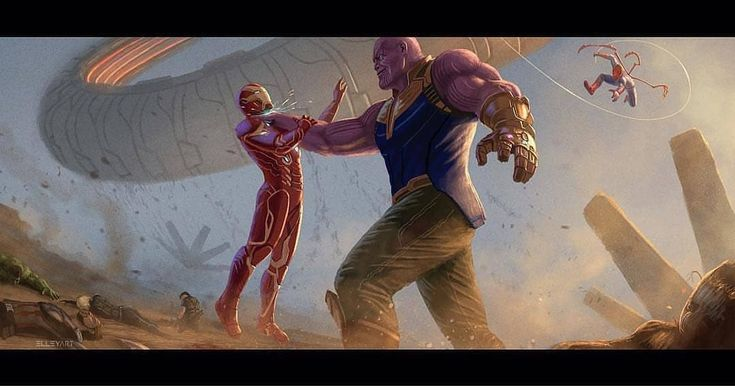 """5,498 Likes, 13 Comments - Marvel (@marvel_avengers_fans) on Instagram: """"Avengers Infinitywar fan art Credit: Elly art   ⬇===-====-===⬇ Welcome to my page :…"""""""
