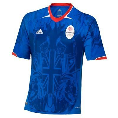 ADIDAS TEAM GB Olympics 2012 SS Supporters Adult Soccer Jersey, Blue, XL football.  #adidas #Sports