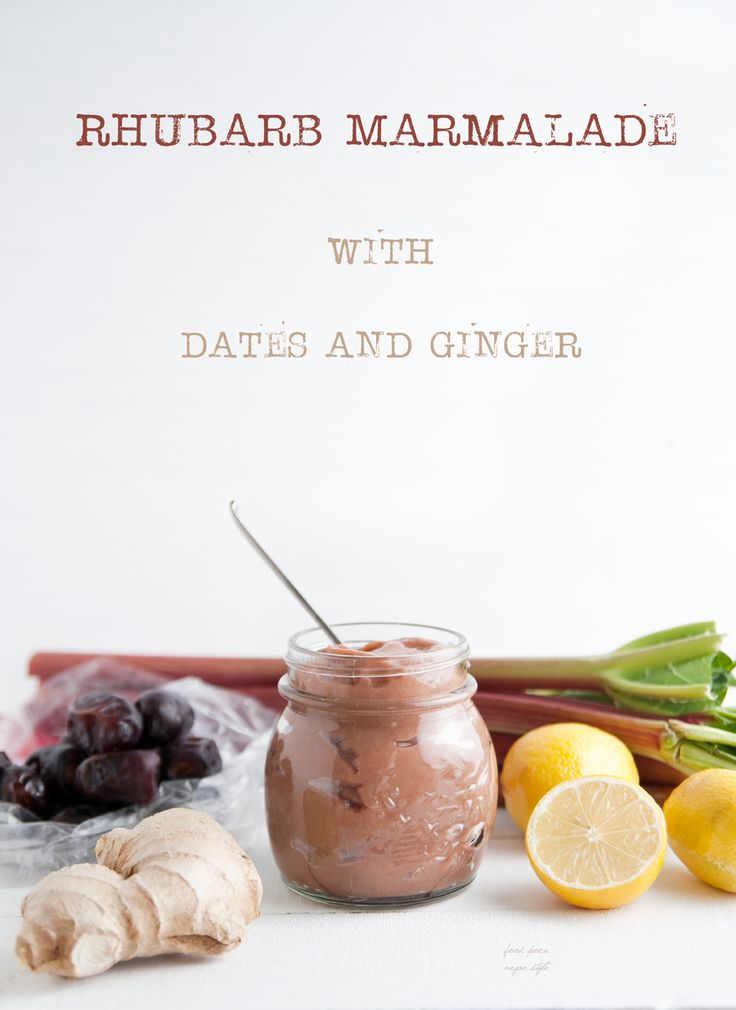 Rhubarb marmalade with dates and ginger