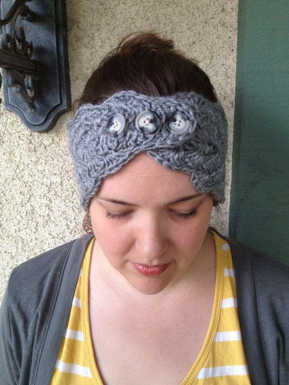 3 button turban style headwarmer, headwrap, earwarmer, headband...