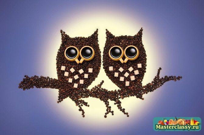 Картины из зерен кофе