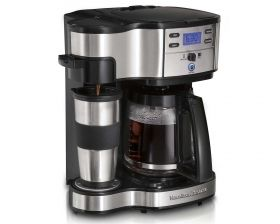 Dual Carafe Coffee Makers: These convenient 2-in-1 products brew two types of coffee at the same time. So whether you are rushing off to work, or are enjoying the Sunday paper, you can have the right amount of coffee.    Hamilton Beach