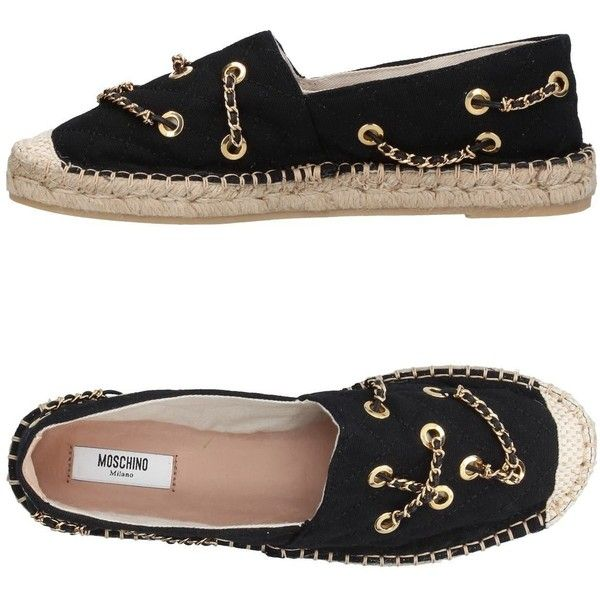 Moschino Couture Espadrilles ($235) ❤ liked on Polyvore featuring shoes, sandals, black, black flatform sandals, flatform espadrille sandals, wedge espadrilles, black sandals and flatform wedge sandals