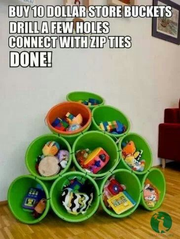 Dollar store toy holders