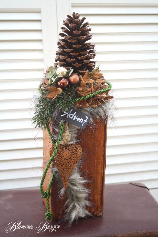 """Weihnachtsdeko - :::: Wohndeko """" Adventszapfen """" :::: - ein Designerstück von BlumereiBerger bei DaWanda"""