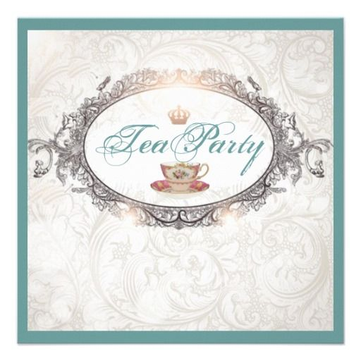 20 best Tea Party Invitation Template images on Pinterest Bridal - tea party invitation template