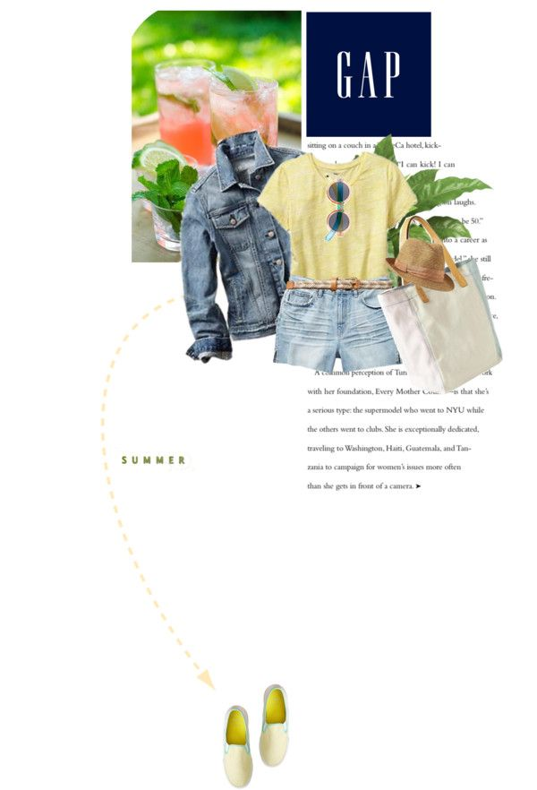 """Summer Lovin,' Gap Style"" by makica-brate on Polyvore"