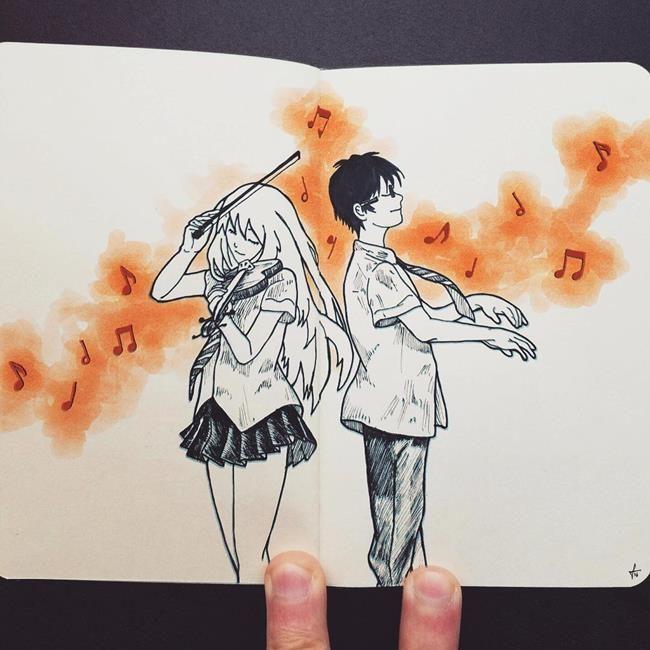 Not Defterine Yapılmış Birbirinden Leziz Kara Kalem Resimleri: Francisco Del Carpio Sanatlı Bi Blog 25