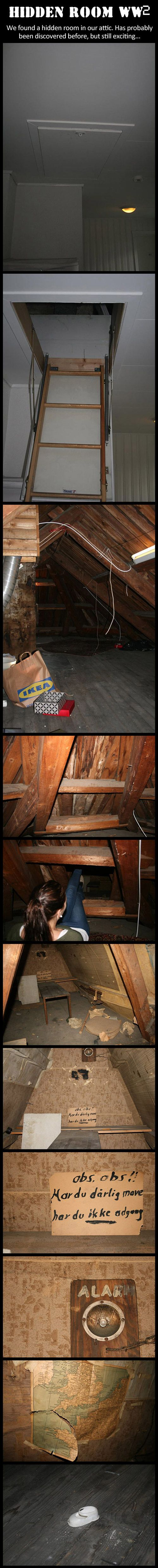 """A hidden room from WW2… """" if your stomach hurts, then your not allowed to be here"""""""