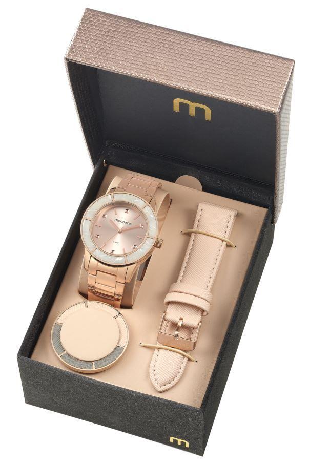 18fef2de33e Relógio Mondaine Feminino Troca Pulseiras Rose 99265LPMVRS3