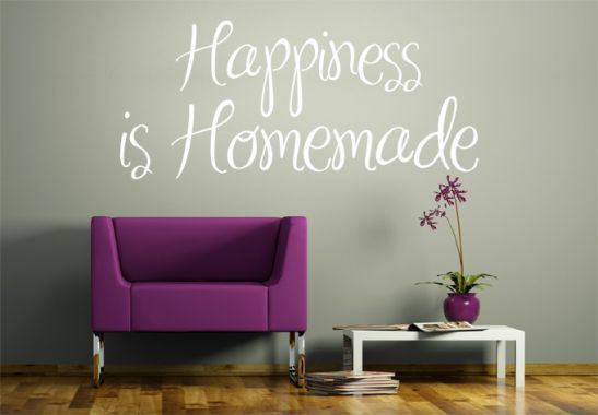 Wall Stickers - Happiness is Homemade Wall sticker
