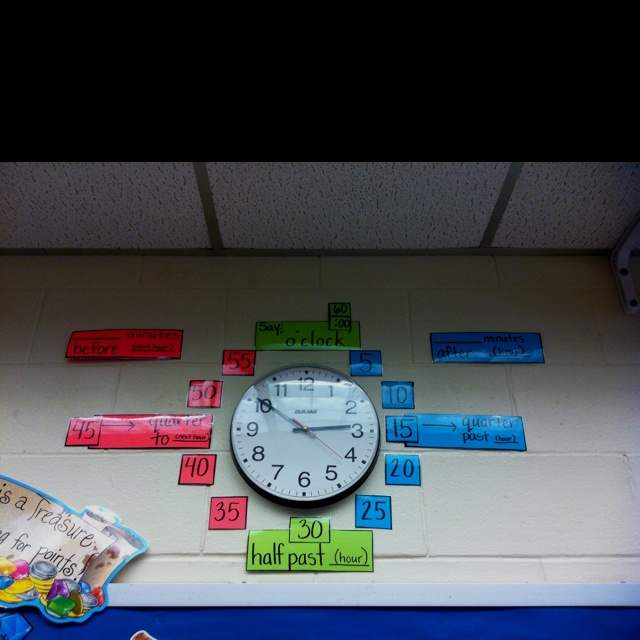 Great for telling time:)