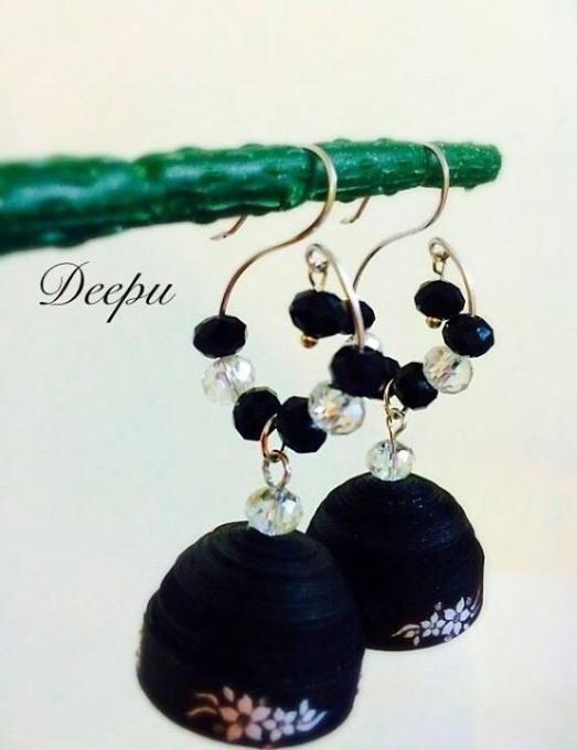 Quilling earrings made by Deepti kiran Bakka from LC.Pandahall.com