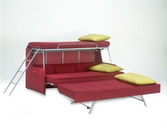 Oltre 25 fantastiche idee su letti a castello a scomparsa su pinterest piccoli letti mobili - Letto a castello a tre ...