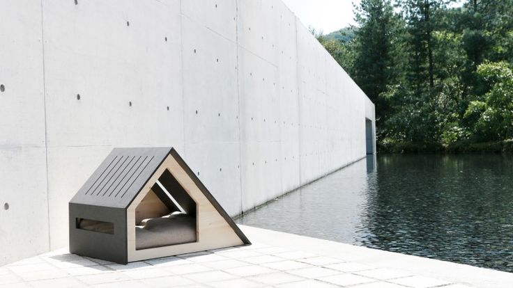Throw away that plastic dog house and get this architectural gem instead