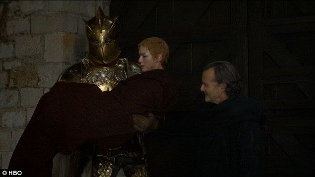 Revenge: He scoops Cersei up in his arms, and the wheels of vengeance are already turning in her head