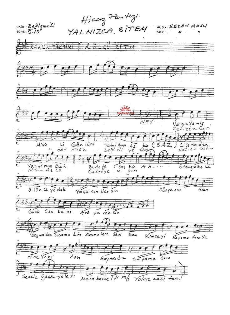 Şarkı nota ve sözleri | Türk Halk Müziği, Türk Sanat Müziği, Türk Pop Şarkılar, Saz Eserleri