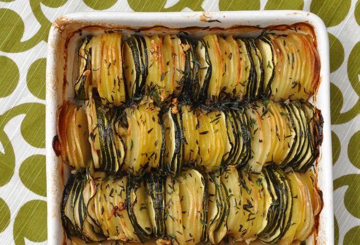 Tian de pommes de terre et de courgettes au thym | Recettes de cuisine avec pommes de terre, classiques et originales