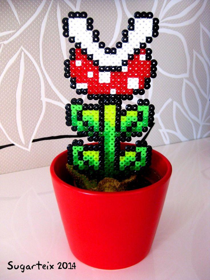 Planta carnivora de Mario Bros para decorar tus macetas.  Si te gusta puedes adquirirla en nuestra tienda on-line: http://www.sugarshop.eu                                                                                                                                                                                 Más