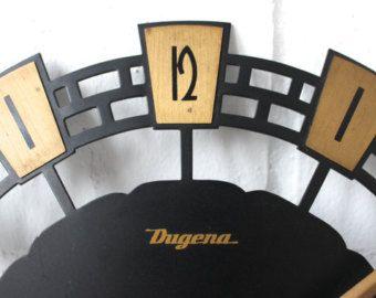 Vintage Dugena Wanduhr Clock Küchenuhr Uhr Wallclock Mid Century Modern 50er -    Artikel bearbeiten  - Etsy